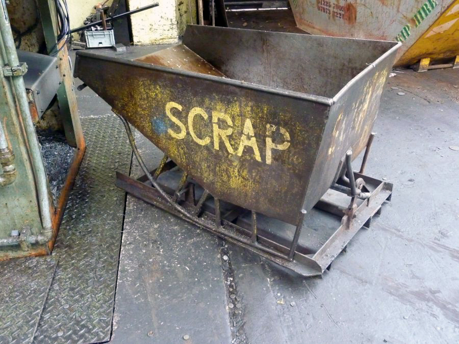 Steel Tipping Scrap Bin - 1st Machinery