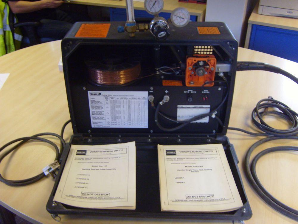 Hobart Handler Single Phase MIG Welding Machine & Gas