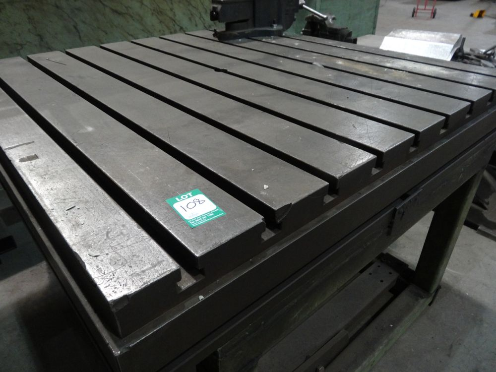120 Cm X 120cm 89cm High Steel T Slot Table 1st Machinery