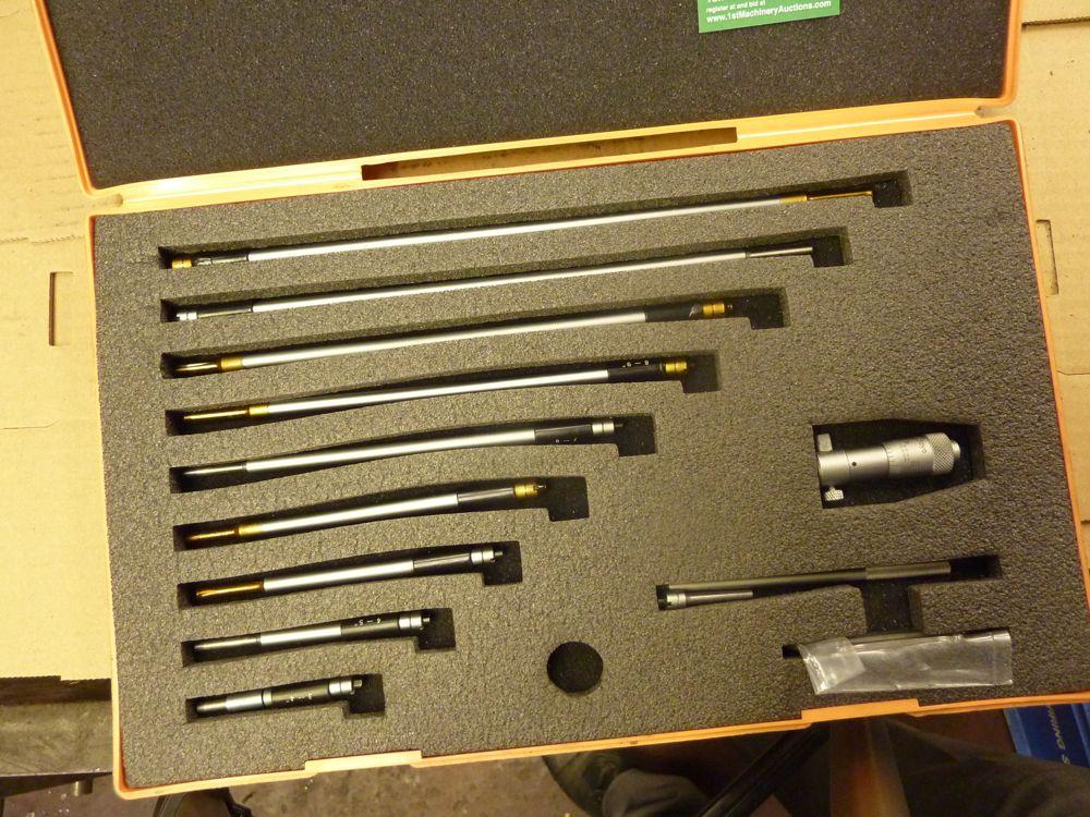 Mitutoyo 141-133 2-12 U0026quot  Internal Bore Micrometer Set