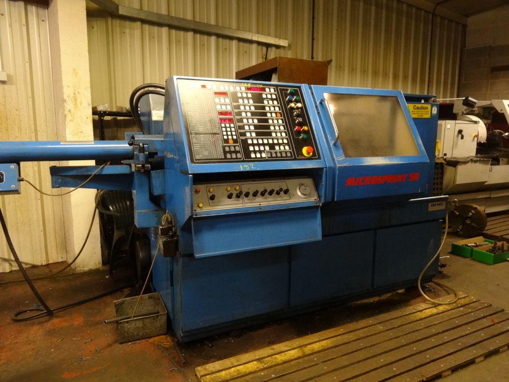 Emi Mec Microsprint 50 Cnc Lathe And Barfeed 1st Machinery
