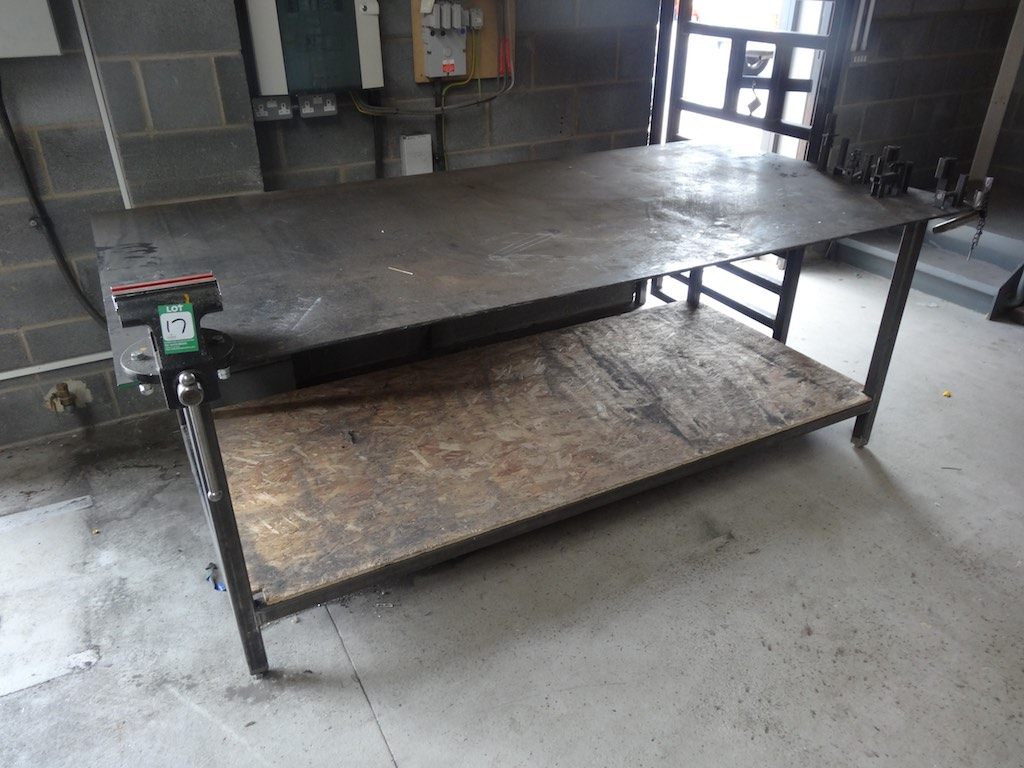 Welders Fabrication Bench With 6 Senator Bench Vice 1st Machinery