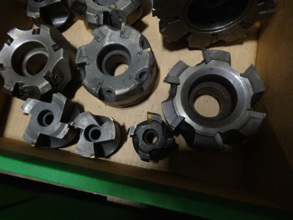 10 X Various Indexable Side And Face Milling Cutters
