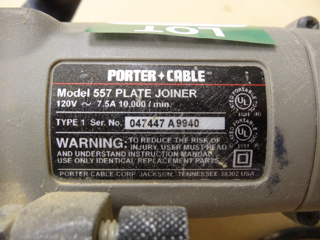porter cable plate joiner 557 manual