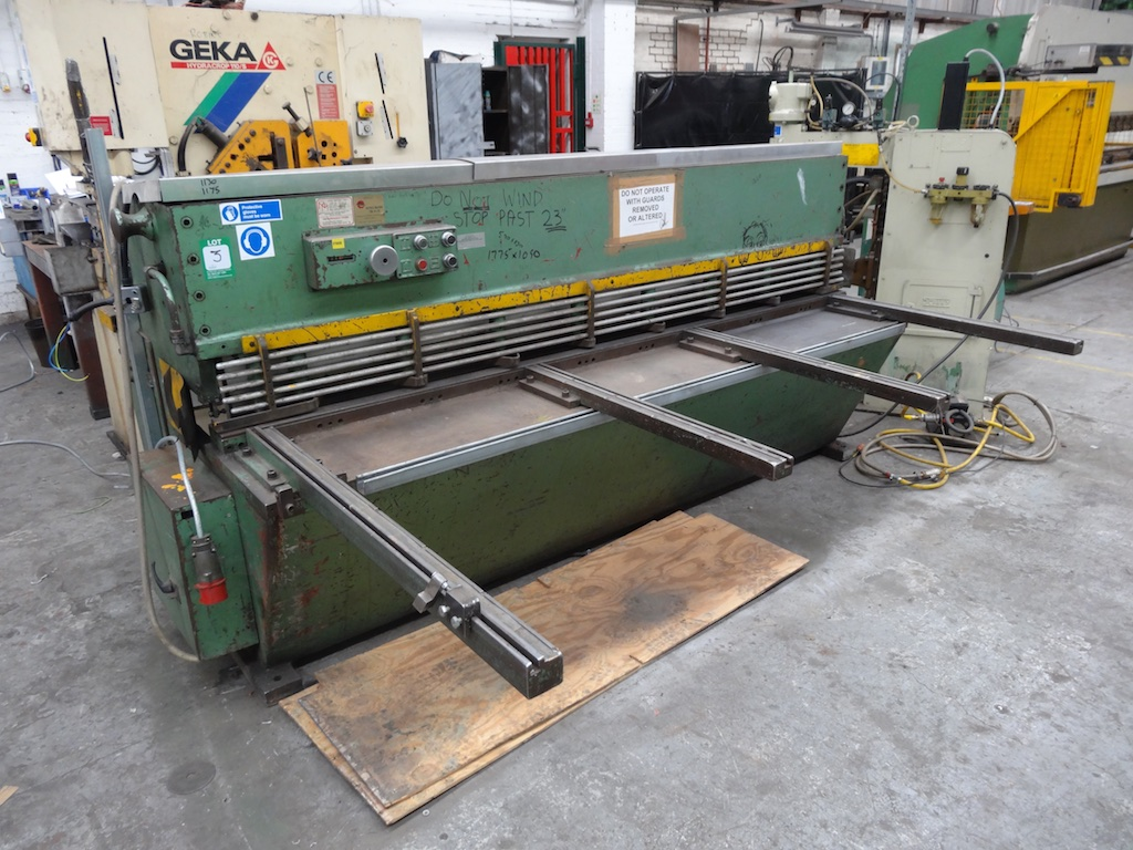 elga hydrashear 2 5m guillotine 1st machinery rh 1stmachineryauctions com Morse Cables Marine Starrett Cable Cutter