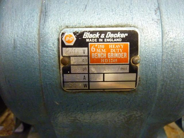 Black Decker Hd1245 Heavy Duty Bench Grinder 1st Machinery