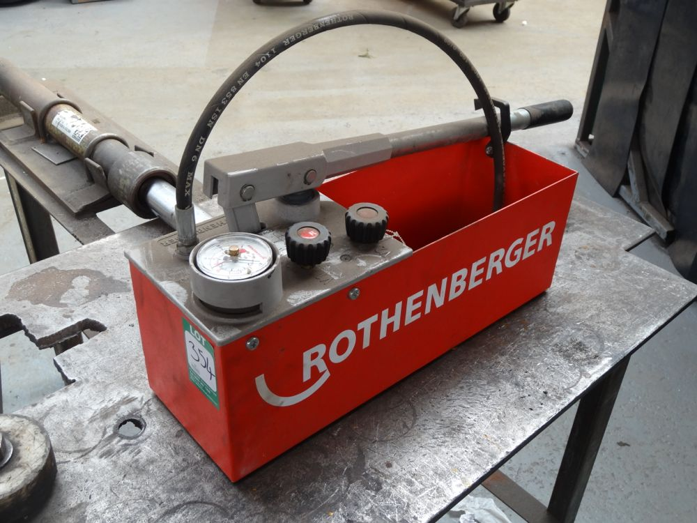 Rothenberger Rp50s Pressure Testing Pump For Conducting