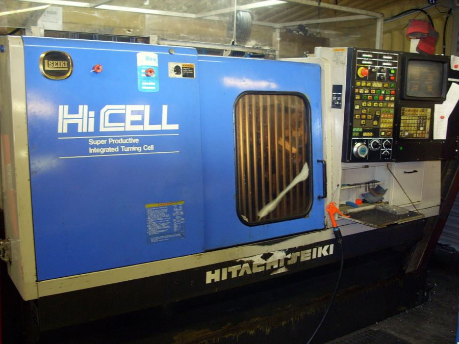 Hitachi Hi-Cell CA23 5 Axis CNC Lathe with Driven Tooling and Milling Facility